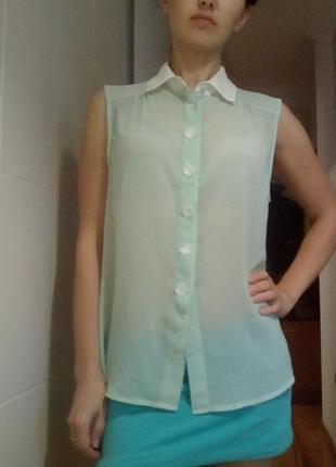 Прозрачная блузка м-л