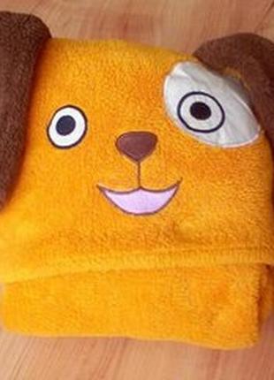 Плед, одеяло с капюшоном с светящиеся глазками