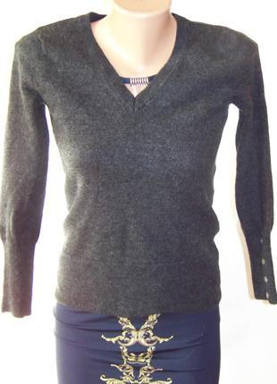 Серый женский шерстяной свитер (marisa christina)