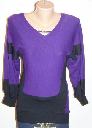 Кофта женская фиолетово-черная (krisp)
