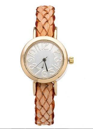 Распродажа часы наручные с крупными цифрами плетеным перламутр...