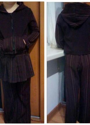 Классный костюм,пиджак и штаны с юбкойна 5-6 лет
