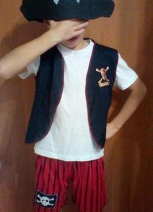 Карнавальное костюм пирата новый год хэллоуин на 6-9 лет