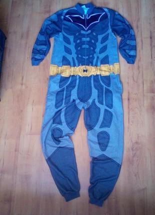 Слип, пижама, костюм бэтмен хэллоуин новый год м-л