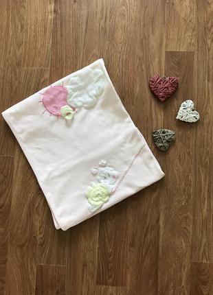 Красивое покрывало одеяло плед 100% хлопок двойной aziz baby