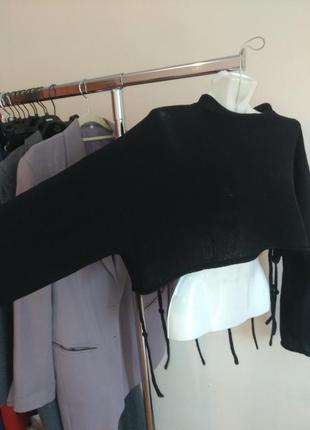 Стильный кроп топ кофта свитшот для одежды с высокой посадкой