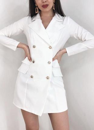 Новинка! платье пиджак с пуговицами тренд хит сезона года 2020