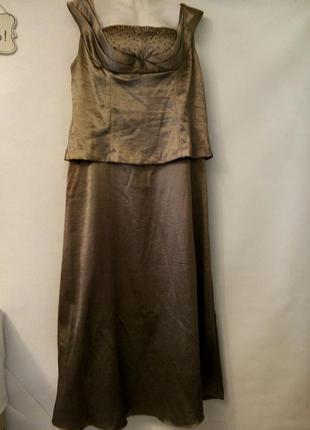 Вечернее платье из сатина большой размер в пол