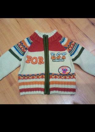 Тёплая кофточка,свитер на 3-9 мес.