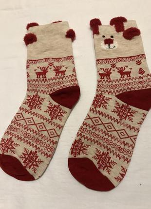 Яркие рождественские носки. отличный подарок на новый год