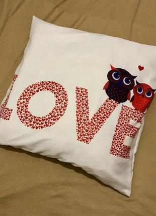 Декоративная подушка для любимого/ любимой. love