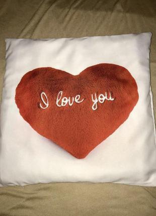 Подушка для любимого/ любимой с принтом «i love you»