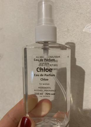 Парфюмированная вода chloe eau de parfum. духи