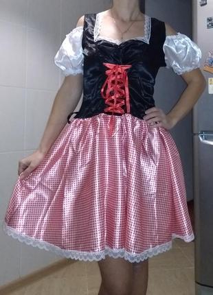 Карнавальный женский баварский костюм, платье с-м