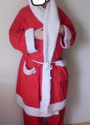 Новогодний костюм деда мороза большой л,хл,ххл