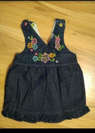 Джинсовый сарафан,юбка, платье с вышывкой