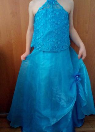 Красивое платье костюм для танцев, карнавальное, принцесса,сне...