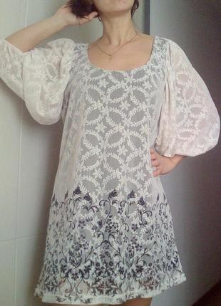 Красивое платье,туника гипюр