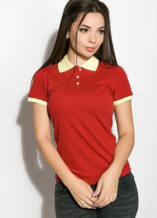 Поло женское с контрастным воротником, футболка-поло, жіноча ф...