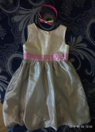 Красивое нарядное платье на 7-8 лет