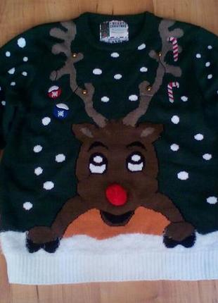 Рождественский свитер, новогодний джемпер