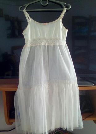 Пенюар детский, подюбник под платье на 4-6 лет