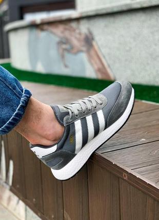 Мужские кроссовки adidas iniki gray 😍