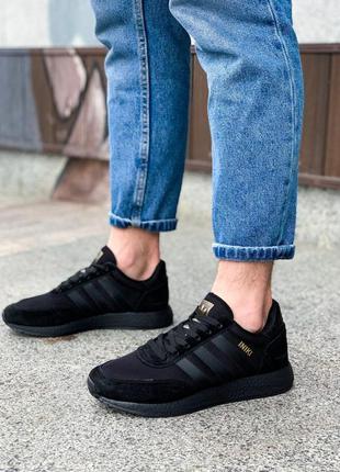 Мужские кроссовки adidas iniki black😍