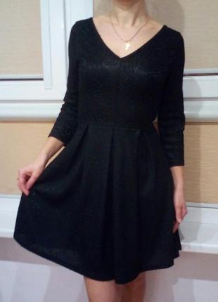 Вечернее платье с гипюра