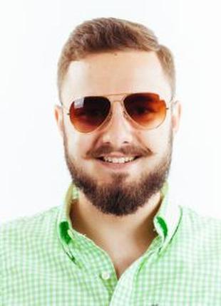Очки ray ban авиатор в золотой оправе + видеообзор