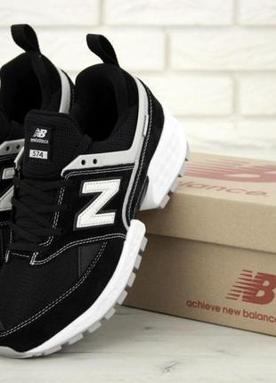 Мужские кроссовки new balance 574 sport v2 black white.