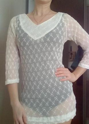 Прозрачная блузка,туника для пляжа из шёлка