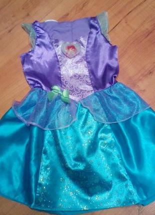 Карнавальное платье принцессы ариэль на 4-5 лет