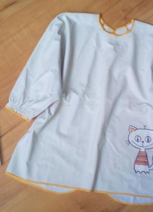 Слюнявчик-фартук для творчество, рисования на 1-3 годика
