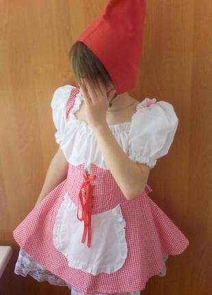 Карнавальный костюм красная шапочка, червона шапочка