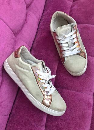 Итальянские кроссовки vivian натуральная замша 39,5 размер (25...