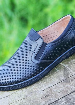 Мужские летние кожаные туфли. скидка!!!!