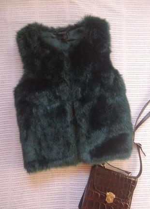 Шикарная меховая жилетка под норку