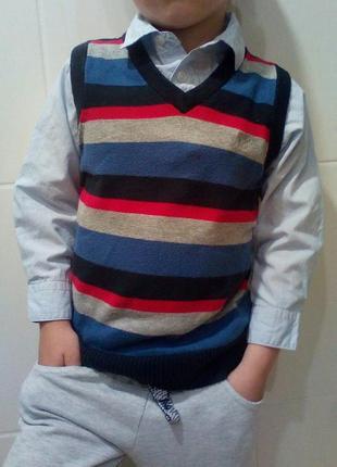 Классная рубашка обманка на 4-5 лет