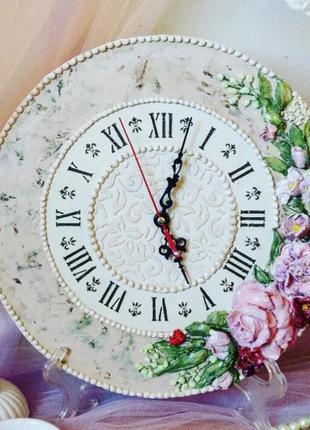 """Настенные часы """"букет"""", настольные, подарок на юбилей"""