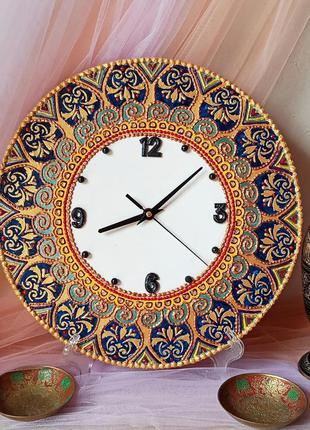 """Интерьерные часы """"восточный орнамент"""" настенные, тихий ход"""