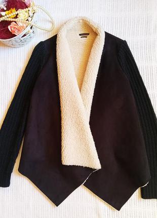 Кофта на меху, куртка оригинальная, пиджак, жакет