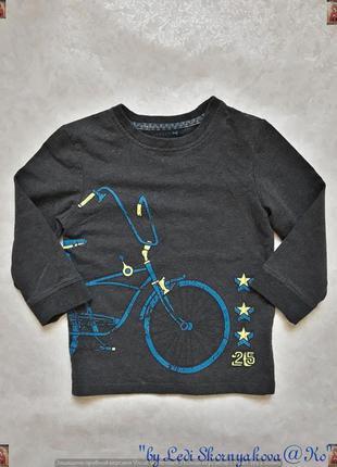 """Новая кофта/джемпер/свитшот в сером цвете с принтом """"велосипед..."""