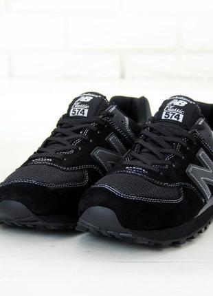 Мужские кроссовки new balance 574 black .