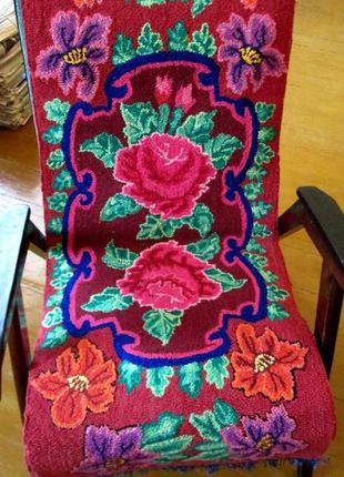 Эксклюзивные ковровые груботканные накидки на кресла ручная ра...