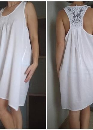 Летнее платье, пляжная туника м-л