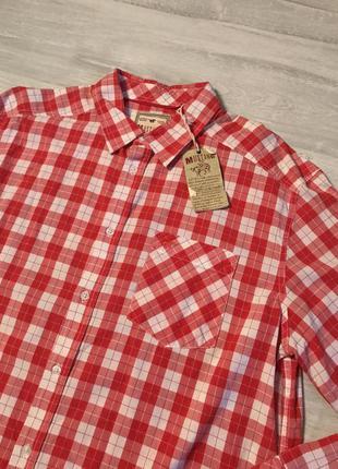 Червона сорочка в кліточку mustang
