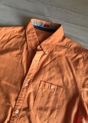 Помаранчева сорочка slim