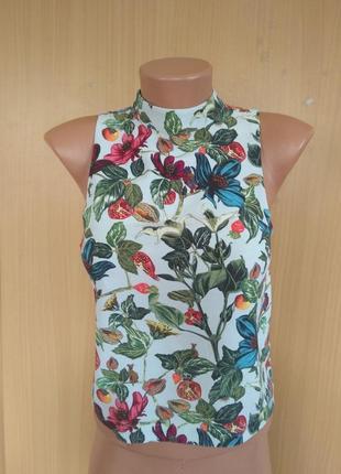 Красивая блуза топ в цветочный принт