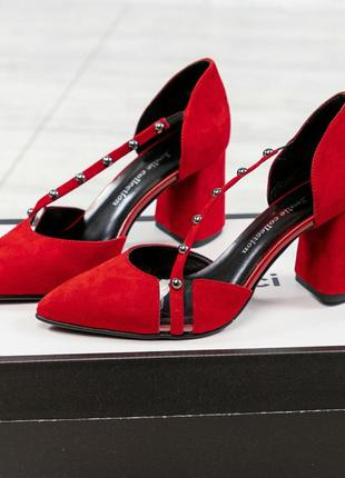 ❤ женские красные замшевые туфли ❤